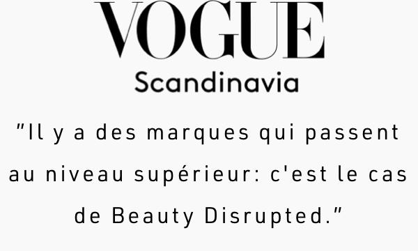 au niveau sup'erieur c'est la cas de Beauty Disrupted