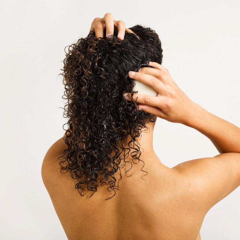 solid conditioner for curly hair
